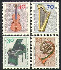 Germany 1973 Music/Instruments/Violin/Piano/French Horn/Harp 4v set (n36463)