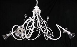 Lampadario Bianco E Cristallo : Lampadario moderno led bianco cristallo e vetri di murano made in