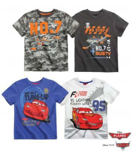 98-128 kurzarm neu! Disney Planes  Cars Doppelpack T-Shirts Kinder Jungen  Gr