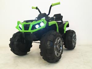 Auto-Outlander-Elettrico-12V-Elettrica-Bambini-Telecomando-Full-Optional-Verde