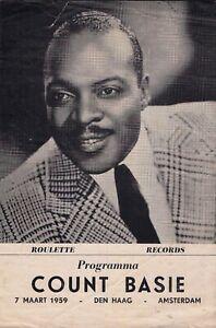 Count Basie 1959 The Netherlands ORIGINAL RARE concert program THAD JONES