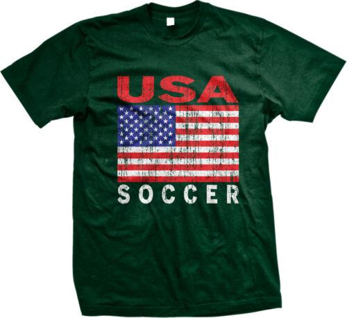 United States National Team USA Football Soccer Red White Blue Mens T-shirt