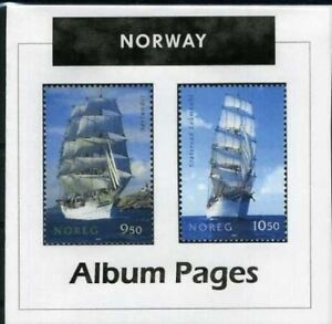 Norway CD-Rom Stamp Album 1855-2020 Color Illustrated Album Pages Update