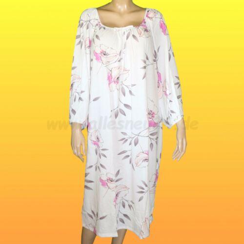 von Graziella in weiß Gr. 40-56 Damen Nachthemd mit 3//4 Arm Baumwolle