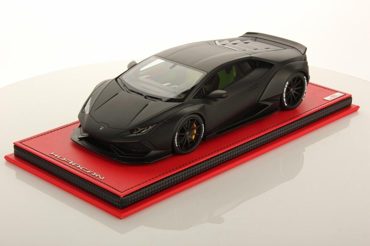 MR Collection Lamborghini Huracan Aftermarket noir Nemesis with Showcase 1 18