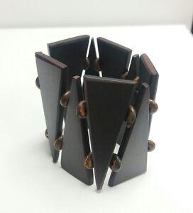 Sono-Wood-Stretch-Bracelet-Brown-Triangle-Motif-7-034
