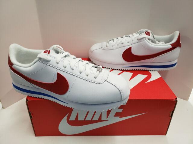 Pagar tributo superficie preferir  Nike Classic Cortez Leather Forrest Gump White Varsity Red Sz 9.5 807471  103 for sale online | eBay