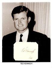 Ted Kennedy Autograph Senator Massachusetts John Robert JFK Harvard College #1