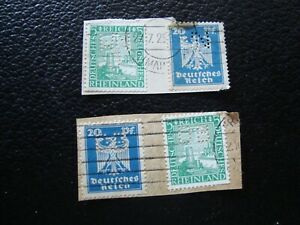 Germany-German-4-Cancelled-Stamps-Gummed-Tips-Perforated-A39