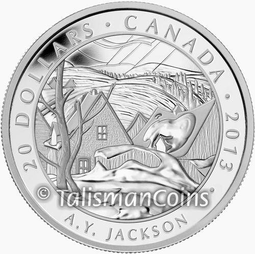 Canada 2013 Group Seven Artists #7 Saint Tite des Caps Jackson $20 Silver Proof
