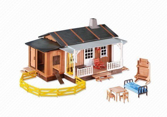 Oeste Casa de Campo Playmobil 6410 Zu 3769 Granja Casa Rancho Original Lámina