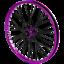 Tribal-BMX-Rear-Wheel-20-034-Rim-9-Tooth-Cassette-Hub-Purple miniatura 1