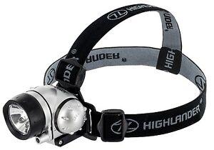 Highlander rigel 6 led tête torche, lampe avec 2 lighting modes (blanc/rouge)  </span>