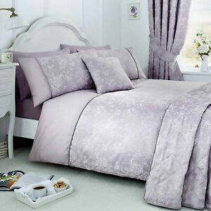 Serene Jasmine Floral Jaquard Weave Lavender Duvet Cove or Curtains or Bedspread