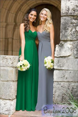 New Length Bridesmaid Dress Wedding Maxi Formal Party Prom Evening Gown 8-26