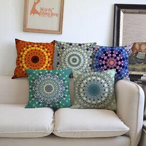fleur vintage peinture boho housse de coussin oreiller jet tui divan ebay. Black Bedroom Furniture Sets. Home Design Ideas