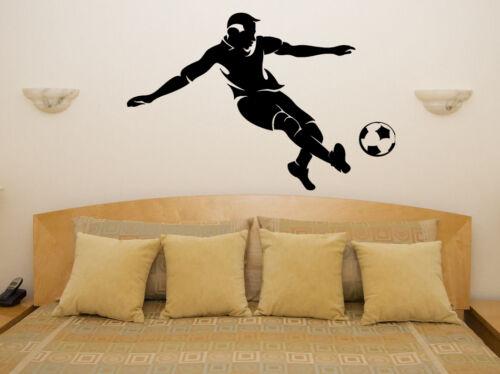 Footballer Football Ball Children/'s Bedroom Room Decal Wall Art Sticker Picture