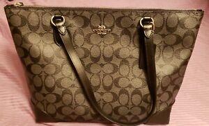 COACH-Signature-City-Zip-Women-039-s-Tote-Handbag