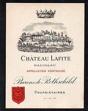 PAUILLAC 1ECC VIEILLE LITHOGRAPHIE CHATEAU LAFITE ROTHSCHILD 1890/1900§05/08/16§