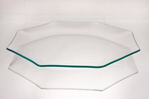 "10"" Octagon Clear ""BENT"" Glass Plate 1/8"