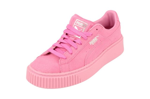 sports shoes 9398c a5761 Puma Basket Platform Reset Womens Trainers 363313 Sneakers Shoes 02