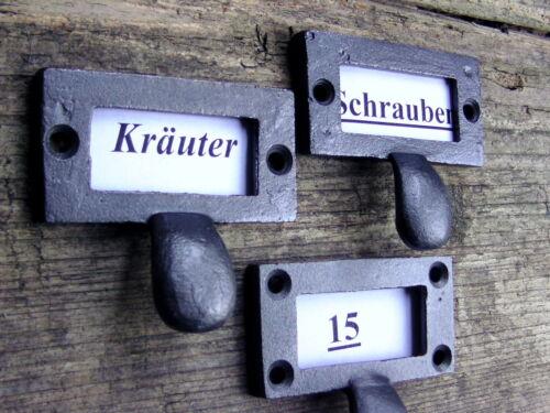 6 x Möbelgriff Etikettengriff Rahmen Apothekergriff  Schubladengriff Möbelgriff