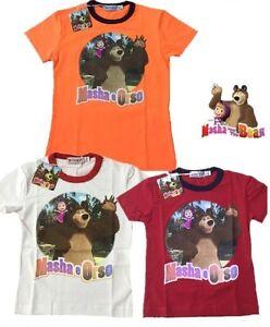 T-shirt-Bimbo-Masha-e-Orso-21014-Maglietta-Manica-Corta-bambino