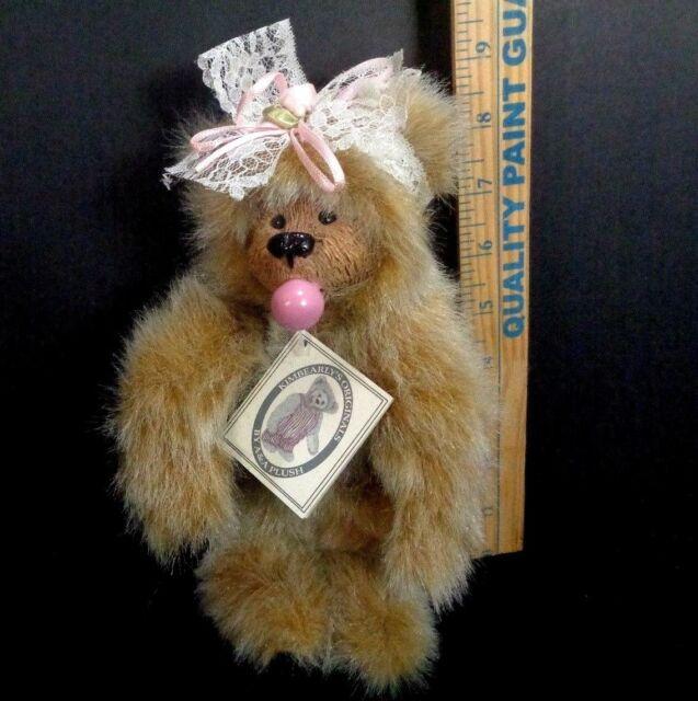 "Kimbearly's Originals Plush Jointed Animal Bubbles 9"" Stuffed Bubble Gum Bear"