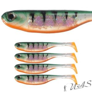 BERKLEY-4-STUCK-GOTAM-SHAD-3-034-8CM-TIGER-TOP-SOFT-BAIT-GUMMIFISCH