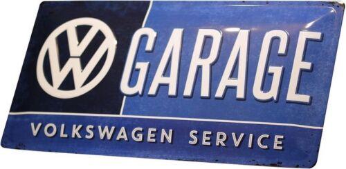 VW Garage Volkswagen geprägt Werkstatt Blechschild 25x50 Metallschild XXL02