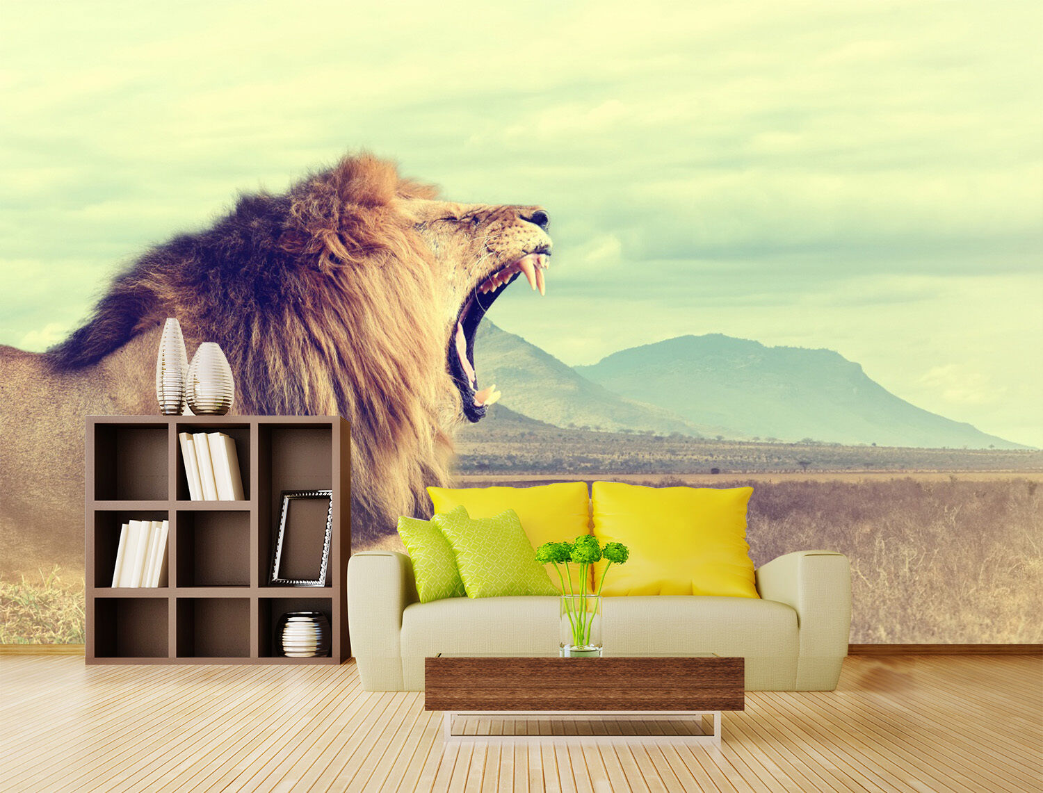 3D Sky Lion Lawn 72 Wallpaper Mural Paper Wall Print Wallpaper Murals UK