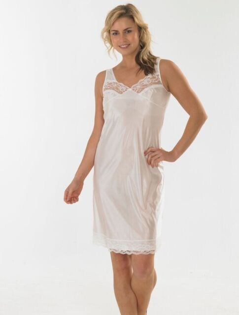 015bfca56620 Anti Static White Built up Shoulder Full Slip With Lace Trim 16 for ...