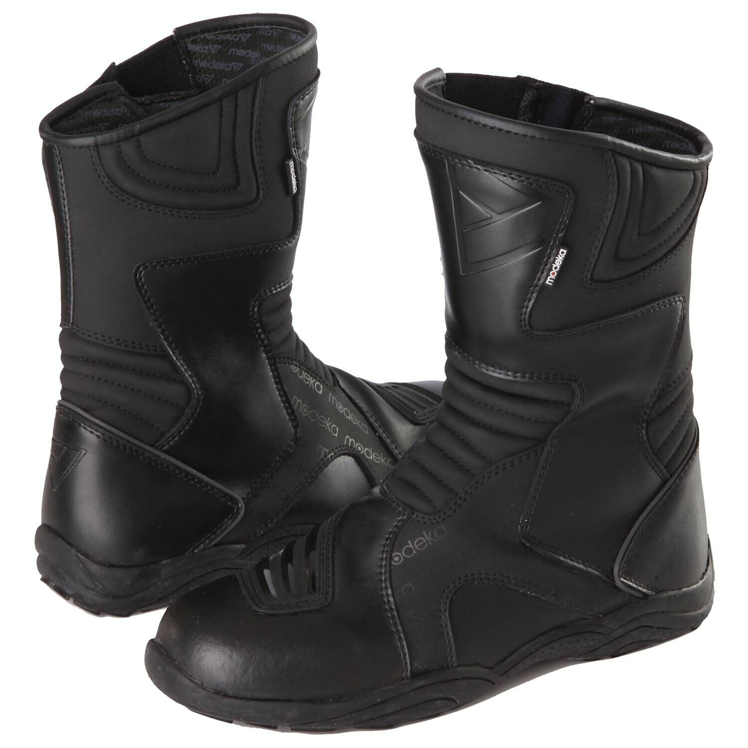 Modeka Grand Tour Men's Touring Motorcycle Boots Leather - Black