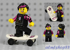 LEGO Series 6 - Skater Girl 8827 Minifig Minifigure Skateboard Collectible CMF