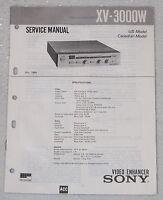SONY XV-3000W Video Enhancer Shop Service Manual & Parts List Original Repair