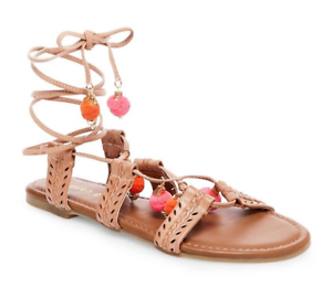 NEW MADDEN GIRL BALIEE NATURAL STRAPPY SANDALS WOMENS 7 FREE SHIP
