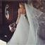 UK Bridal Veil Wedding Veil Cathedral Veil Two Tier Veil with Horsehair Trim