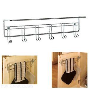 Image is loading Towel-Rack-Hanging-Small-Organizer-Wall-Mount-Bathroom-  sc 1 st  eBay & Towel Rack Hanging Small Organizer Wall Mount Bathroom Kitchen ...