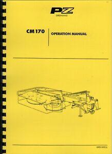 Vicon CM 170 Faucheuse opérateur manuel d'instruction-afficher le titre d`origine