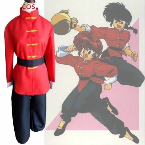 Ranma 1//2 Saotome Gender Bend Chinese Kunfu Outfit Cosplay Costume