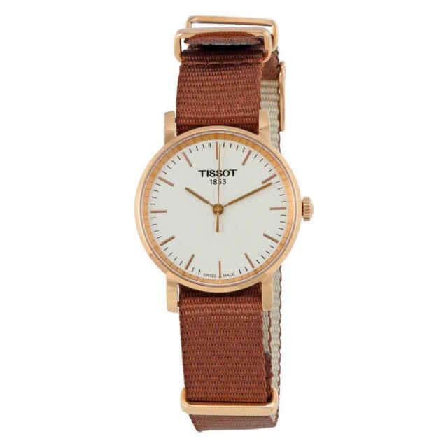 Tissot Women s Small NATO 30mm Brown Nylon Band Quartz Watch T1092103703100 7580730b75