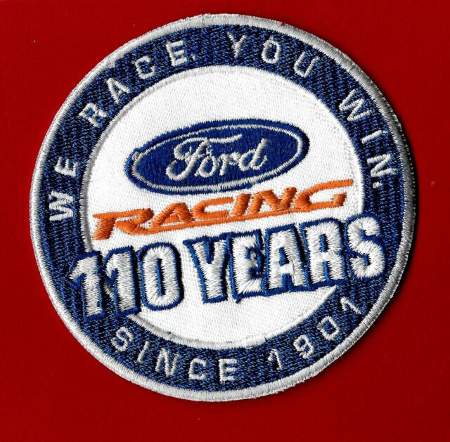 """New Ford Racing """"110 Years"""" round 3"""" Inch Iron on Patch  Free Shipping"""