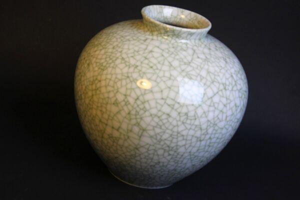 !!! Metzler & Ortloff Craquele Vase Art Deco Krakelee !!!!! Ohne RüCkgabe