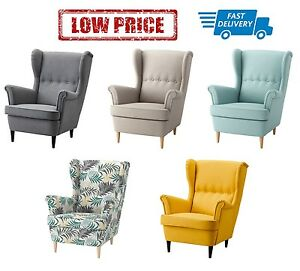 Ikea Strandmon Wing Chair In 5 Colours Ebay