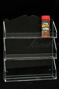 Wall-Mounted-Spice-Organizer-Spice-Rack-3-Shelves-Clear-Acrylic
