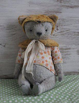 Apprensivo Modello Da Cucito Vintage Bear Con Fox Hat 7 Pollici-mostra Il Titolo Originale