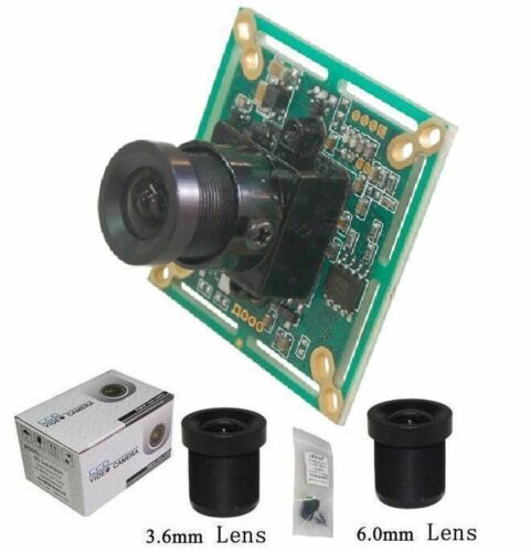 "3.6 /& 6.0 mm M12 Lenses BS65B Sunvision 650TVL 1//3/"" Sony CCTV Board Camera"