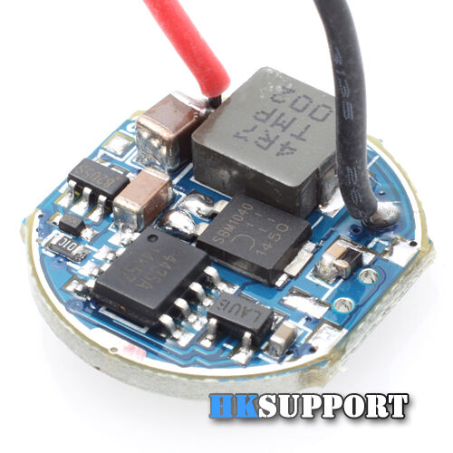 ∅20mm 3A CC 8.4~12.6V Single Mode for CREE XHP50, MT-G2 LED Flashlight Driver