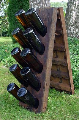 Champagner Rüttelpult, 20er, Rüttelbrett-Gestell für 20 Flaschen