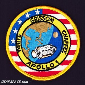 APOLLO-1-LION-BROTHERS-VINTAGE-ORIGINAL-NASA-CLOTH-BACK-SPACE-PATCH-MINT